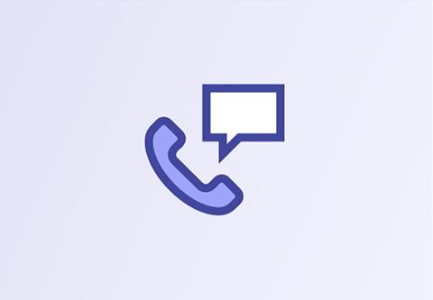 Icône de téléphone et clavardage