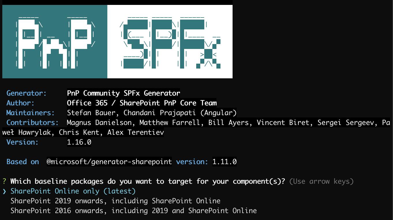 pnp/generator-spfx - npm