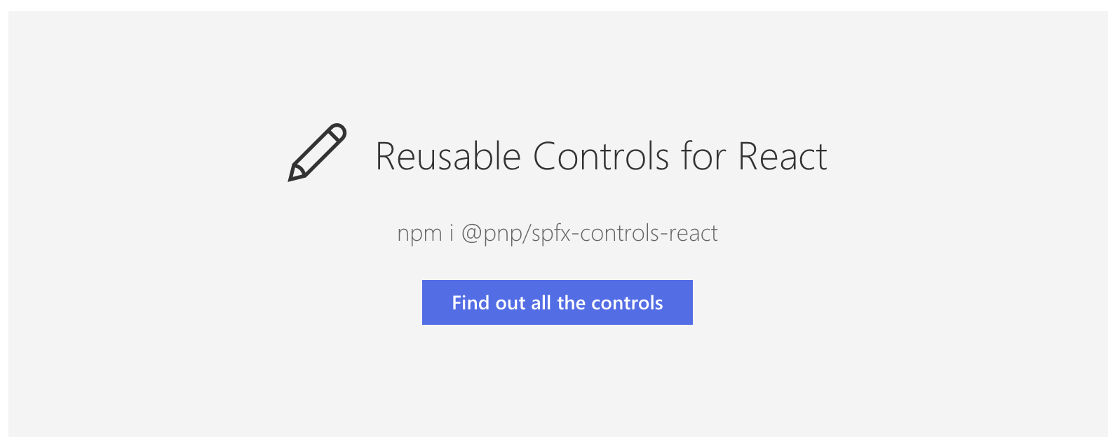 Reusable React Controls